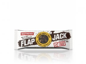 tyčinka Nutrend FLAPJACK GLUTEN FREE čokoláda+banán