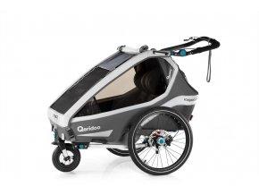 QERIDOO Vozík Kidgoo2 Sport 2020 - Grey 2021