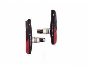 špalíky 4RACE MTB šroub výměnné 72mm černo-červené