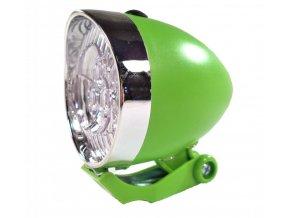 osvětlení přední 4RACE LF02 3 LED bateriové zelené