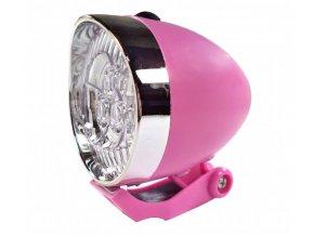 osvětlení přední 4RACE LF02 3 LED bateriové růžové