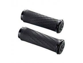 Locking gripy pro Grip Shift Integrated 100mm s černé objímky a koncovka řidítka