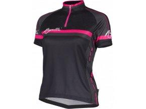5531ca3abae73 dres krátký dámský Rogelli MANICA ROSA černo/růžový