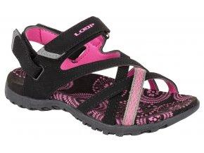 boty dětské LOAP CAIPA JR sandály černo/růžové