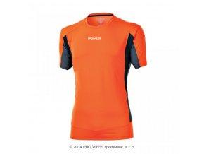 triko krátké pánské Progress SPRINTER oranžovo/šedé