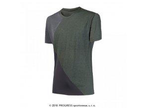 triko krátké pánské Progress CRUISER khaki/šedé