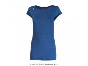 triko krátké dámské Progress MERIDA modré