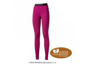 spodky dlouhé dámské Progress CC SDNZ coffee fialové