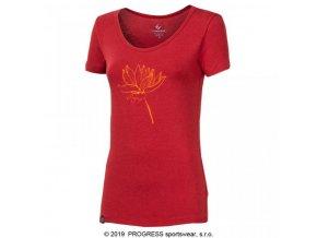 """triko krátké dámské Progress SASA """"LOTUS"""" červené"""