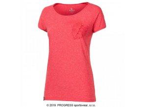 triko krátké dámské Progress PACIFICA červené