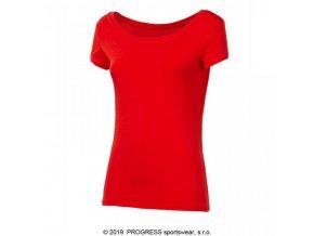 triko krátké dámské Progress LIBERTA červené