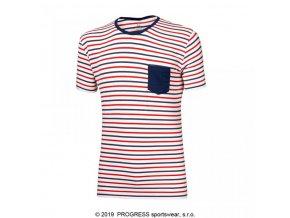 triko krátké pánské Progress PANDUR proužek trikolora