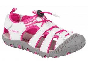 boty dětské LOAP DOPEY sandály bílo/růžové