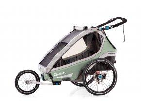 QERIDOO Vozík Kidgoo1 Pro - Petrol Blue 2021