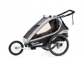 QERIDOO Vozík Kidgoo1 Pro - Anthracite Grey 2021