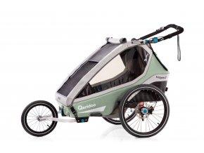 QERIDOO Vozík Kidgoo2 Pro - Petrol Blue 2021