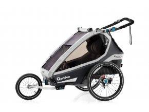 QERIDOO Vozík Kidgoo2 Pro - Anthracite Grey 2021