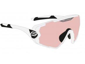 brýle FORCE OMBRO bílé mat., růžové laser skla