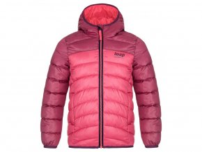 bunda dětská LOAP INBELO zimní růžová