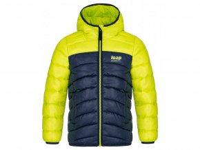 bunda dětská LOAP INBELO zimní žluto-modrá