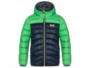 bunda dětská LOAP INBELO zimní zeleno-modrá