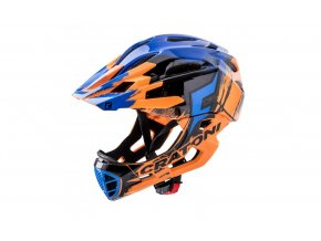 cratoni c maniac pro orange black blue glossy v