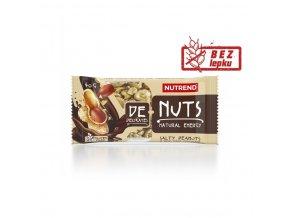 tyčinka Nutrend DeNuts slané arašídy v hořké čokoládě 40g exp. 02/21