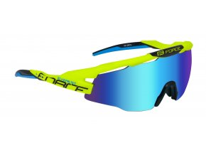 brýle FORCE EVEREST, fluo, modrá zrc. skla