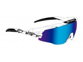 brýle FORCE EVEREST, bílo-černé, modrá zrc. skla