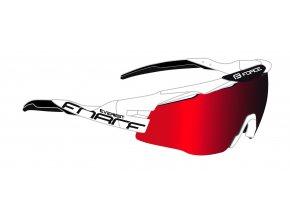 brýle FORCE EVEREST, bílo-černé, červená zrc. skla