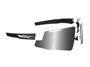 brýle FORCE IGNITE, bílo-černé, černá skla