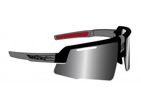 brýle FORCE IGNITE, černo-šedé, černá skla