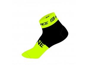 ponožky FORCE ONE, fluo-černé
