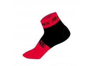 ponožky FORCE ONE, červeno-černé