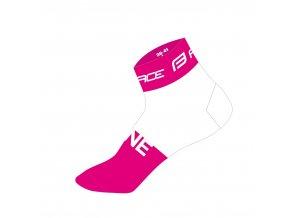 ponožky FORCE ONE, růžovo-bílé