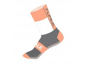 ponožky FORCE HALE, oranžovo-bílo-šedé