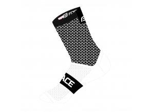 ponožky FORCE TRACE, černo-bílé