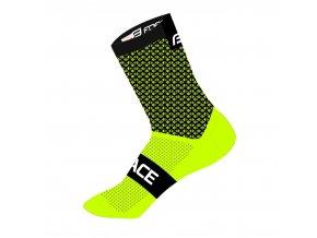 ponožky FORCE TRACE, černo-fluo