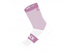 ponožky FORCE TRACE, růžovo-bílé