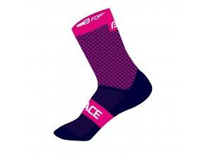 ponožky FORCE TRACE, růžovo-modré