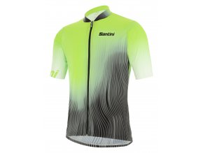 SANTINI SPRING+SUMMER 2021 MTB Man jersey TERRA / Pánský MTB DRES - VF - Flashy green 2021