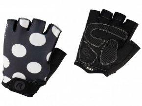 rukavice dámské Rogelli SPRINKLE černo/bílé