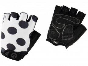 rukavice dámské Rogelli SPRINKLE bílo/černé