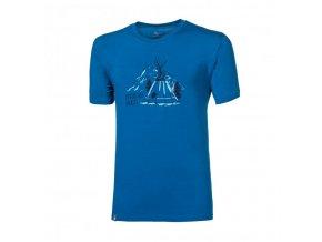 triko krátké pánské Progress PIONEER TEEPEE modré