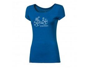 triko krátké dámské Progress LIBERTA FLOWBIKE modré
