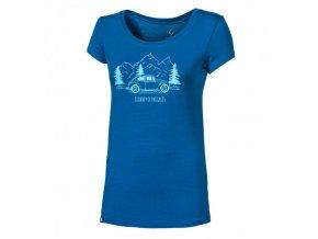 triko krátké dámské Progress LIBERTA BEETLE modré