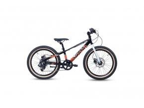 [6276] S'COOL Xroc disc 20 Dětské kolo černé bílé oranžové