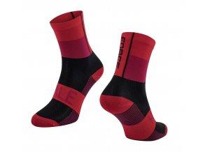 ponožky FORCE HALE, červeno-černé