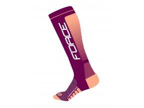 ponožky F COMPRESS, fialovo-meruňkové