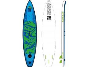 Paddleboard 2W SUP Touring 11`6 MSL fusion, logo Apache, nafukovací, 2021